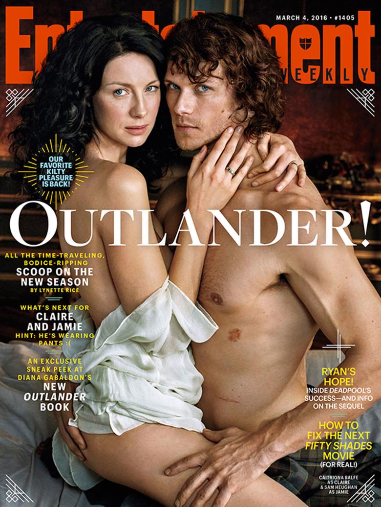 La Pareja Posa Desnuda En Fotos Promocionales Para Ew Outlander