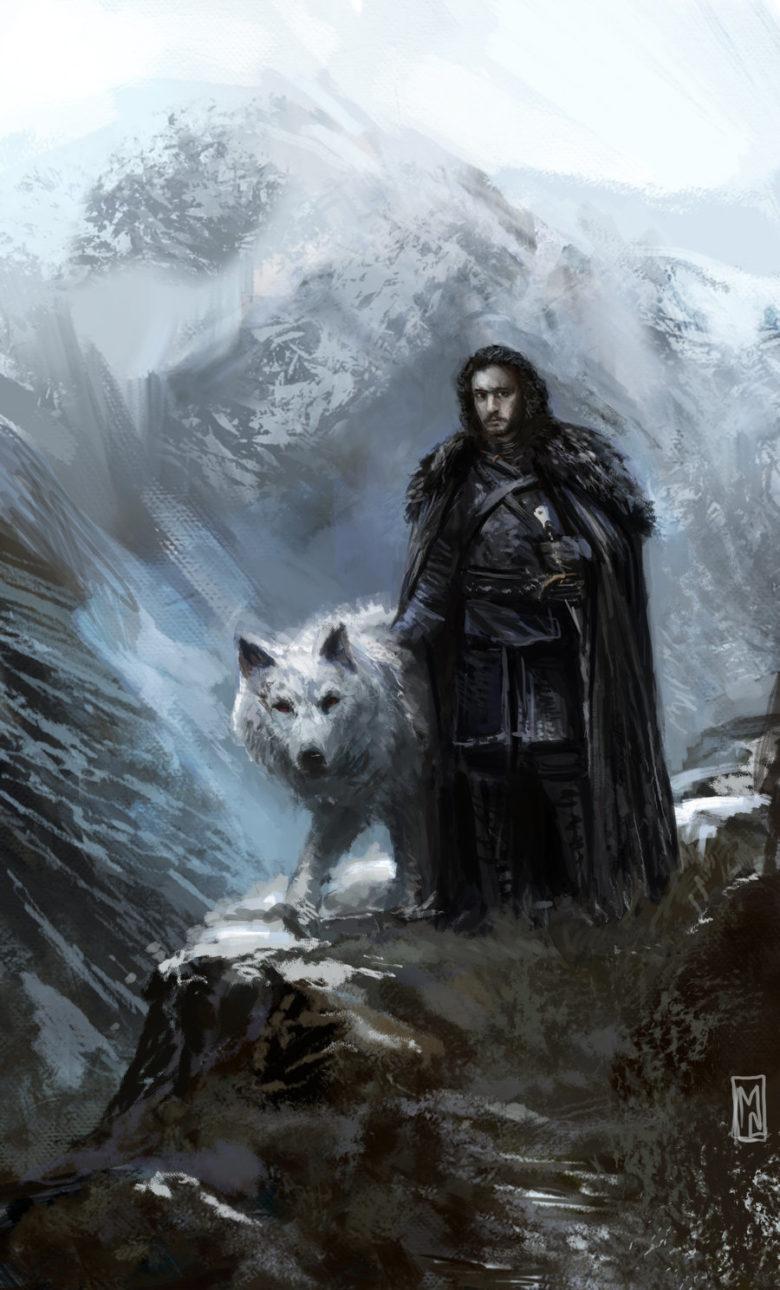 33 Dibujos De Jon Snow Y Ghost Para Usar Como Wallpaper