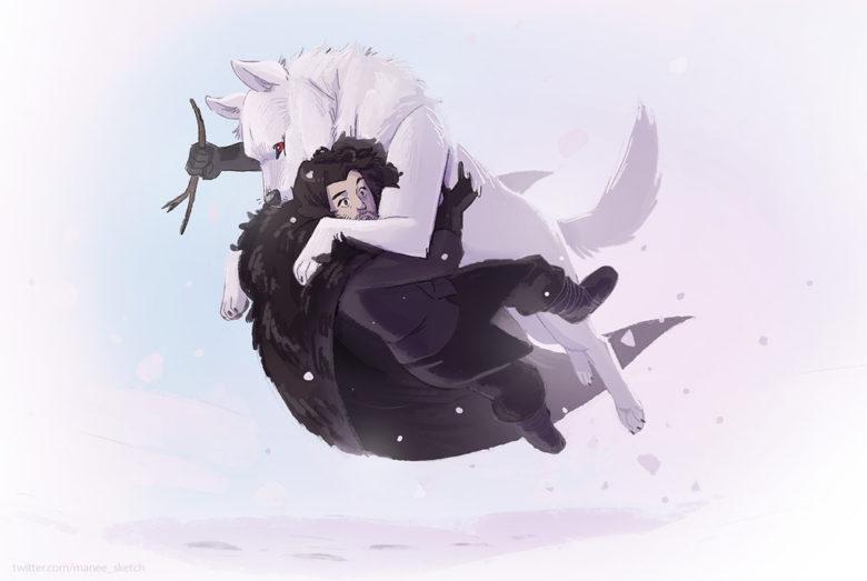 33 Dibujos De Jon Snow Y Ghost Para Usar Como Wallpaper Game Of